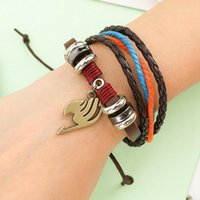 Очаровательные браслеты многослойные браслеты мужчины повседневная мода плетеная кожа для женщин деревянные бусины панк рок Men1