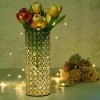 Cylindre Crystal Vases Vases Bougies Pour Maison De Mariage Table De Centres Décorations à la main LJ201018