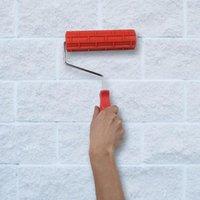 Линта ролики кисти 7 дюймов имитационные кирпичные рисунки тиснение цилиндра стены краски роликовый диатомовой инструмент инструмент Decor1