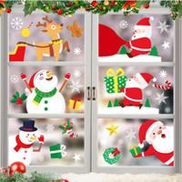 Noel Pencere Çıkartma Noel Baba Cam Kapılar Banyo PVC Çıkartma Yılbaşı Ev Çıkartmaları Dekor Süsler Hediye DDA729
