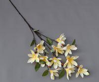 Маленькая магнолия цветок моделирования одиночная ветка декоративный цветок флористика дома украшения дома свадебные украшения фотографии реквизиты цветок