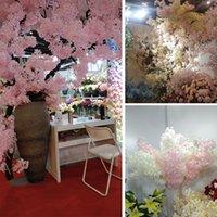 محاكاة البرقوق الكرز أزهار الحرير الاصطناعي الزهور شجرة ساكورا الفروع الجدول المنزل غرفة المعيشة الزفاف الديكور FFB4678