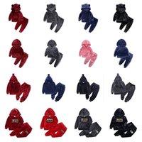 80-140 cm Kinder Pleuche Trainingsanzug Zwei Teile Samtiger Outfits Jungen Mädchen Pullover Hoodie Kapuzenspitzen und Legging Hosen Kinder Sportbekleidung G10509
