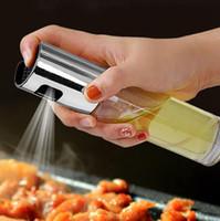 Барбекю Приготовление стекла масло опрыскиватель стекла Масло оливковое опрыскиватель насос из нержавеющей стали Spray Oil Распылитель Can Jar Пот Kitchen Tool GGA3762-7