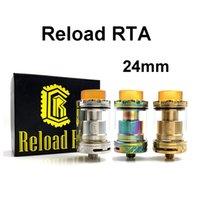 Miglior prezzo Ricarica RTA 2ml E Sigaretta Ni80 Wire Wicks Vape 24mm Serbatoio ricostruibile per vaporizzatore 510 filettatura mod
