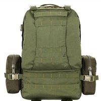 Sacos ao ar livre 50L camo grande capacidade de esportes pacote de ombro multi-função combinação de mochila de mochila escalada nylon