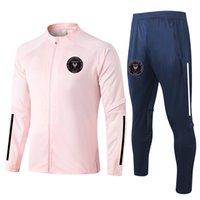 2021 INTER MIAMI CF Training Tuta Adult Soccer Tracksuits Set Kit Sport Pieno Zipper Giacche e Pantaloni Set di allenamento Set da uomo Tutte da uomo