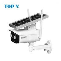 카메라 미니 IP66 방수 1080P HD 와이파이 야외 태양 광 IP 카메라 저전력 CCTV 카메라 1