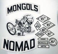 أعلى جودة المغول NOMAD MC السائق الصدرية المطرزة التصحيح 1٪ MFFM في الذاكرة حديد على عودة كاملة من سترات الدراجات النارية تصحيح شحن مجاني 31JV #