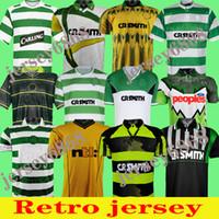 2006 2008 Celtic Retro Fussball Jerseys 1991 1992 1998 1999 Fußballshirts Larsson Classic Vintage Sutton 1995 1997 Celtic Football Kits Top