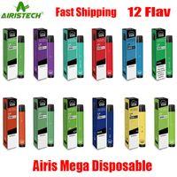 Kit Bang Mega одноразовые аутентичные устройства Airis 2000 оригинальный префиден 6 мл портативный портативный портативный Vape Stick Plus плюс 1050 мАч 100% XXL MAX Puff KMJQ