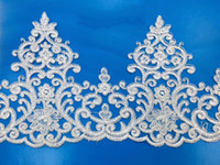 White embroidery Lace wedding dress lace trim HB50