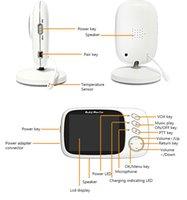 3.2Inches LCD 2 Yönlü Ses Konuşma Gece Görüş Gözetleme Güvenlik Kamerası Bakıcı ile FreeShipping Kablosuz Video Renk Bebek Monitörü