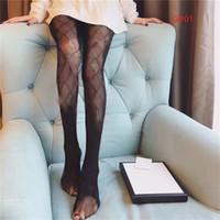 Hollow Letters Meios Femininos Sexy Fino Respirável Leggings Têxtil Mulheres Ins Moda Partido Meias Branco Peúgas Pretas