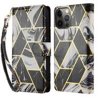 Funda de billetera de mar de máquinas para iPhone 12 Pro Max Funda de cuero para iPhone 11 XR 7 8 XS Max Funda con tarjeta PORCKET