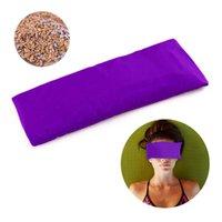 Yoga-Matten Augenkissen dunkler Kreis seidiger Lavendel + Leinsamen gefüllt für natürliche Angstmeditation