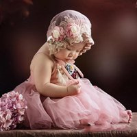 طفلة التصوير الرباط هات + اللباس مجموعات الدعائم الرضع 1 تاريخ الميلاد صورة التقطت الصور فساتين الوردي الملابس صور الدعامة
