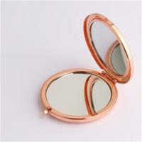 Макияж ручной зеркала Компактный косметический многоцветный DIY зеркало круглые складки оригинальность небольшой подарок твердой металлической базы горячей продажи 4 3RL M2