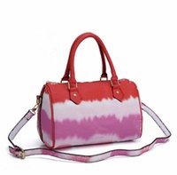 free shopping! nova quente 33 tamanho Moda Cor Boston Bag Tie Dye Handle Bag com Should`er Strap Boston Bolsas para Venda