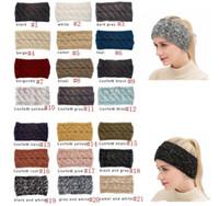 CC Hairband Colorido Colorido Crochet Torça Headband Winter Orelha Aquecedor Elastic Hair Faixa de cabelo largo Acessórios