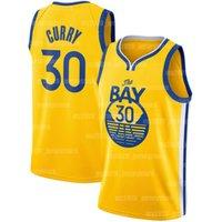 "Stephen 30 Curry Jerseys State Golden State ""Warriors"" Jersey Klay 11 Thompson d'Angelo 1 Russell Draymond 23 Green 2020 2021 Nouveau Basketball"