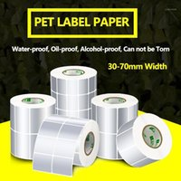 Stampanti Etichetta Adesivo 30-70mm larghezza Transfer termico Silver PET Impermeabile impermeabile Impermeabile Immerso impermeabile Accetta il cliente Order1