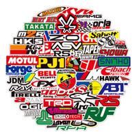 100 قطع سباق السيارات ملصقات السيارات التصميم jdm ماء ملصقا إلى diy موتوكروس سباق خوذة سكيت دراجة كمبيوتر محمول الأمتعة