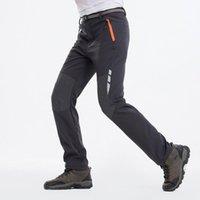 Pantalones de senderismo de invierno para hombre reflectantes Hombre Cálido Fleece Softshell Pantalones deportes al aire libre Esquí grueso Pantalones impermeables