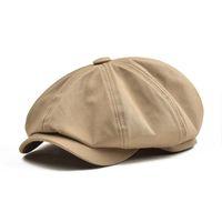 Baker Boy Cotton Twill otto spicchi cappello delle donne BOTVELA Big Large Berretto Uomo Cappelli Khaki Retro Cappelli Maschio Boina Beret 003