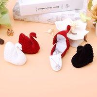 Nowy Little Swan Biżuteria Box Kolczyki Kolczyki Schowek Pudełko Naszyjnik Kreatywny Koreański Koreański Para Pierścień Pierścień