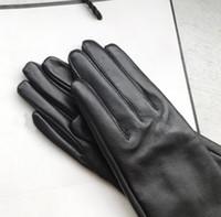Fashion - Gants pour femmes en cuir véritable hiver chaleur chaud femme femme douce femelle fourrure doublure de mitaines de haute qualité