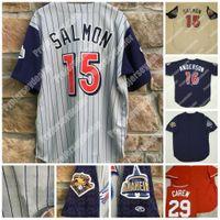 2001 Tim Salmon Anaheim Rawlings 100 temporadas Jersey Shohei Ohtani Mike Trout Garret Anderson Joe Mauer Rod Carew Retror Baseball Jerseys