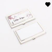الفولاذ المقاوم للصدأ التسامي بطاقات خاصة فارغة موقف مقعر بطاقات اسم المستطيل مربع طباعة نمط بطاقة الأعمال حالة هدية 4 4MO N2