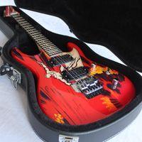 Em estoque / aniversário edição limitada Rare Joe Satriani Surfer Surfer Guitarra Elétrica / Dupla Bridge Balanço / Chrome Hardware / com Caso