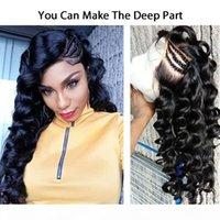 Glueless profonde bouclés perruques de cheveux humains pour Black femmes perruques de cheveux remy avec les cheveux de bébé 150 densité couleur naturelle