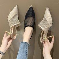 Moda Scarpe da donna Icclek 2021 Primavera New Style Style Sottile Scarpe sottili per signore comodo traspirante1