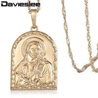 DaviesLee Bayan İsa Adetleri Kolye Şampanya Altın Dini Kolye Kolye Kadın Takı için 2020 Hediyeler Dropshipping LGP3251