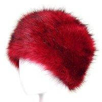 2020 Mulheres Moda de Inverno Spring Hats Lady Fluff Cap macio morno pele do falso Gorros Ear Protect bonito Casual headgear mantilha