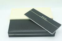 Boîte à stylo en bois noir de haute qualité pour stylo plume / stylo à bille / encadrement à crayons de stylos à bille à bille avec le manuel de la garantie