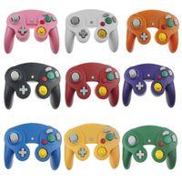 سلكي gamecube joystick ngc الألعاب تحكم لنينتندو وحدة التحكم / وي لعبة مكعب gamepad ngc مع مربع البيع بالتجزئة