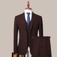 Homens Ternos Blazers Homens Casamento Manta Terno Três Peça Slim Fit Tuxedo Top Design Recomendar Masculino Casaco Casual Noivo Morning Coat Discount