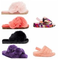 2021 ugg uggs ugglis wgg womens women boot boots shoes Mujer Moda Casual Invierno Slipper Slipper Fuzz Zapatillas Mujeres Fluffy Faux Furry Slides 58YU #