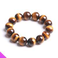 Perlen, Stränge gelb Tigerauge Armband Natural Energy Glaube Mode Männer und Frauen Semi-Edelsteine Schmuck Geschenk 3 Spezifikationen