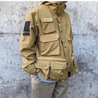 Autumn and winter fashion color men' s tooling multi- poc...