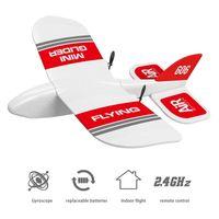 2. RC Flugzeug Fliegenflugzeug EPP Foam Segelflugzeug Feste Flügel Flugzeug RTF Foam Plane RC Gleitflugzeug Modell Spielzeug Kinder LJ201210