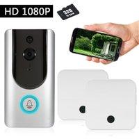 Türklinke HD 1080P Wifi Smart Wireless Security Türklingel Visuelle Gegensprechanlage Video-Türtelefon Nachtsicht + Gleisch