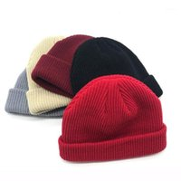 Sombreros de ala ancha de punto Melón Sombrero de lana corta Cap Dome Street Dance para niños y girs Casual Winter Winte Band Accesorio gratis 20211