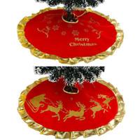 Ana Sayfa 90cm Noel ağacı Etek Elk Noel ağacı Apron için Yeni Noel Ağacı Süsleme Dekorasyon DDE2256 Malzemeleri