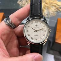 Pablo Raez 2021 Nouveau Style Cuir Mode Montres Mec Calendrier Prestige Décontracté Design Quartz Date En Acier Inoxydable Business Simple Bracelet