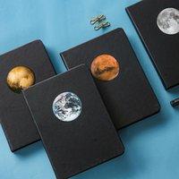 Notepads Jugal Planet Diary A5 Creative Diy Black Noir Noir Page Inner Sketchbook pour dessin Painting Graffiti Notebook Journal